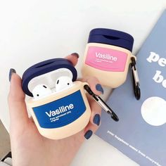 There's 101 uses for vaseline. This Vaseline Airpods Case makes it This case is durable and the silicone cover offers good protection against impact for your airpods 1 and Bluetooth, Wireless Headphones, Cute Cases, Cute Phone Cases, Vaseline, Airpods Apple, Apple Case, Aesthetic Phone Case, Accessoires Iphone