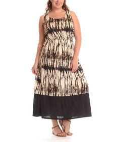 Look at this #zulilyfind! Coffee Tie-Dye Maxi Dress - Plus by Shoreline #zulilyfinds