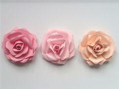 Set++3++Rose+Grandi+Colori+Pastello++di+PaperLoveFantasy+su+DaWanda.com
