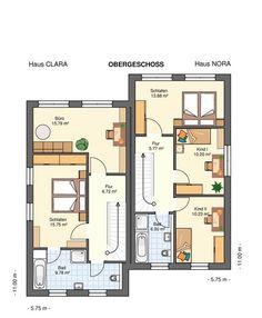 Kowalski-Haus-Clara-Nora135 Grundriss Obergeschoss