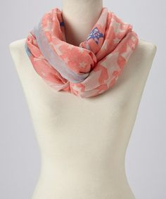This Red & Blue Star Infinity Scarf by Jasmine Trading Corp is perfect! #zulilyfinds