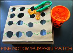 Fine Motor Pumpkin Patch Activity- SUPER FUN!