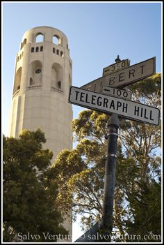 On top of Telegraph Hill, on the east side of San Francisco, sits Coit Tower. From the top, you have a full view of SF Coit Tower San Francisco, San Francisco City, San Francisco Travel, San Francisco California, California Dreamin', Northern California, San Fransisco, Le Far West, Road Trip Usa