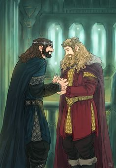 Thorin was King (with Bilbo as his consort) to a ripe old age and then Fili took over? Legolas, Thranduil, Gandalf, Hobbit Art, Hobbit Hole, The Hobbit, Bilbo Baggins, Thorin Oakenshield, Lotr