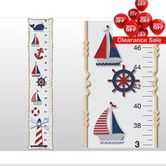 Boys Growth Chart In Canvas Or Vinyl Personalized Gift By Rotemz