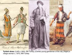 """Sleeveless version of the coat on the left. From the text at the site: """"The traditional Turkish ensemble for either men or women consisted of loose fitting trousers (şalvar, don) and a shirt (gömlek), topped by a variety of jackets (cebken), vests (yelek), and long coats (entâri, kaftan, üç etek)."""""""