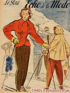 1940s ski fashion - Google Image Result for http://www.1940s-fashions.co.uk/style/ski-02.jpg