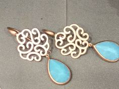 Pink gold and turquoise