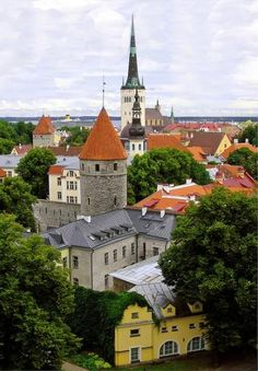 Old Town of Tallinn, Estonia.  Beautiful.