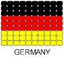 Beaded flag pin for Germany. Ooohh, this gives me an idea. You could make a flag with dot-a-dot markers.