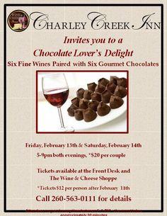 Valentine's Weekend Wine & Chocolate Tasting