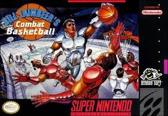 Never forget the basketball game set in the future where flagrant 2 fouls are considered incidental contact. Bill Laimbeer, Super Nintendo Games, Retro Video Games, Retro Games, Gamer Humor, Games Box, Basketball Games, Box Art, Anime
