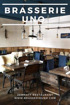 Brasserie Uno Menu: Restaurant in Zermatt: Creative cooking, fresh flavours, excellent service. Olive Oil Ice Cream, Milk Ice Cream, Italian Beef, Porcini Mushrooms, Course Meal, Tasting Menu, Restaurant Food, Zermatt, Seasonal Food