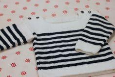 tuto tricot 6/9 mois Pull marin