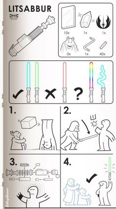 College Humor - Sci-Fi Ikea Manuals Star Wars