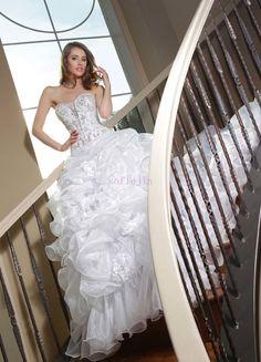 New arrival sweetheart neck floor length bling wedding dress