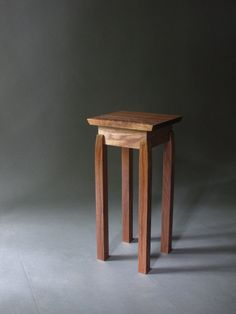 A handsome little table with gorgeous craftsmanship details! Handmade custom table by Mokuzai Furniture