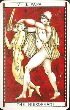 V. The Hierophant - Tarocco Mitologico by Amerigo Folchi