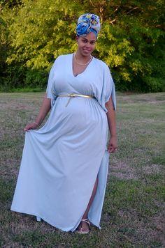 Jenae of Greenandgorgeous.net looking like a goddess in our Athena Caftan #spottedinsynergy #ecofashion #gorgeous