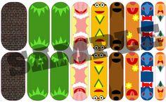 Muppet inspired fan art nail wrap designed using Jamberry's Nail Art Studio. Order yours here - http://jenniferrosenfeld.jamberrynails.net