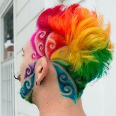 Colors :@manicpanicnyc . . #hair #melbournehair #melbourne #rainbowhair #melbournestylist #hairbesties #hotonbeauty #modernsalon #american_salon #behindthechair #australiahair #rainbowhair #cherrybombhair #bustme #hotforbeauty #fuckinghair #hairtattoo #hairtattoos #undercut #undercutdes