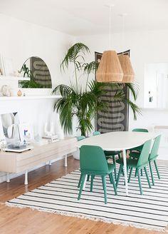 dining room makeover // before & after // sarah sherman samuel fro Design love fest