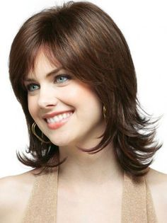 Good Shoulder Length Brown Classic Wigs