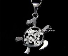 Jewel Tie 925 Sterling Silver Click-on Antiqued-Style Turtle Pendant Charm 19mm x 34mm