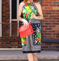 Vintage Floral dress  @premierhandbags @RebeccaMinkoff