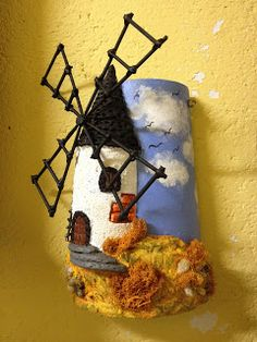 MANUALIDADES LA ANDALUZA: TEJAS Miniature Houses, Candle Sconces, Ideas Para, Decoupage, Wall Lights, Candles, Rustic, Christmas Ornaments, Holiday Decor