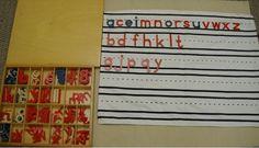 Lined mat for movable alphabet (Trillium Montessori)