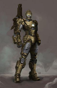 "Fan Art for ""Iron Man"" - Desert combat suit Ver / Digital Iron Man Suit, Iron Man Armor, Hq Marvel, Marvel Heroes, Comic Book Characters, Marvel Characters, Marvel Concept Art, Combat Suit, Combat Armor"