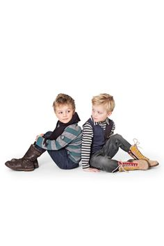 Boots, stripes, vests, scarf!! oh the little fashionistas!