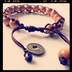 Wood Bead Shamballa Spiritual Bracelet Handmade For Men And Woman Brown