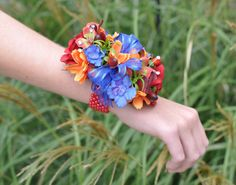 Wrist Corsage, Red Rose, Red Pearl Bracelet, Wedding Corsage, Prom Corsage, Fall Corsage. by Hollysflowershoppe on Etsy https://www.etsy.com/listing/250414368/wrist-corsage-red-rose-red-pearl