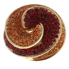 Gold Round Twist Ring With Red Crystals available at http://www.divabelle.com $14.00