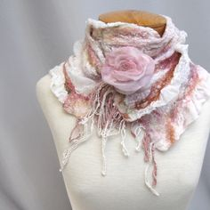 Pink and rose nuno scarf