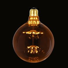 38.92$  Buy now - http://aliq6g.shopchina.info/go.php?t=32685032714 - 3W,G125 Globe LED Light Bulb,Fireworks Starry,Ultra warm 2200K,Decorative for Pendant Lamp,Dimmable 38.92$ #magazineonlinewebsite