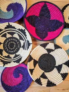 Hand woven baskets. Home decor from Kampala, Uganda, Africa. Empowering women through employment opportunities.