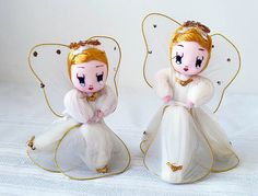 Vintage Angel Doll Set Japan Christmas Decoration