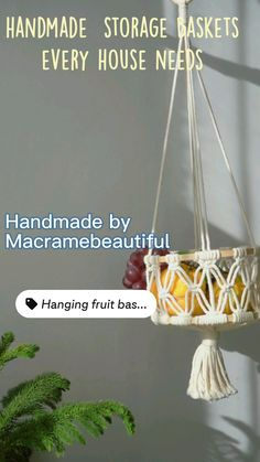Craft Room Storage, Toy Storage, Bathroom Storage, Storage Baskets, Kitchen Storage, Hanging Baskets, Hanging Plants, Plant Hanger, Diy Home Decor