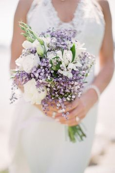 Lavender Wedding bouquet - Sage to Sea Film Photography