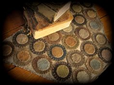 The Diary of a Rugmaker: New and Old Penny Rugs