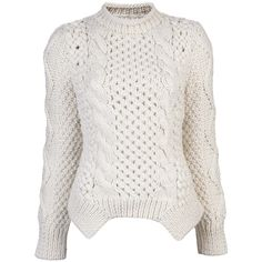 YIGAL AZROUEL Duo knit sweater (2.920 HRK) found on Polyvore