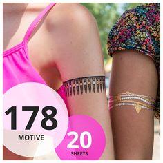 Mega Flash Tattoo Set XXL   20 Sheets & 178 Motive   Original POSH Tattoo®