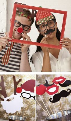 Photomaton de Noël en DIY  http://www.homelisty.com/deco-de-noel-2015-101-idees-pour-la-decoration-de-noel/