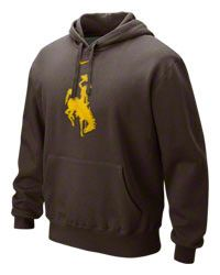 Wyoming Cowboys Nike Brown Classic Logo Fleece Hooded Sweatshirt $54.99 http://www.fansedge.com/Wyoming-Cowboys-Nike-Brown-Classic-Logo-Fleece-Hooded-Sweatshirt-_-304195829_PD.html?social=pinterest_pfid66-15321