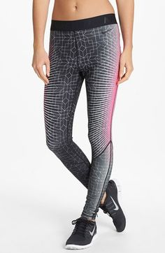Nike 'Pro Hyperwarm' Print Tights available at #Nordstrom