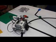 Lego EV3_Proportional line follow picking coloured cubes - YouTube