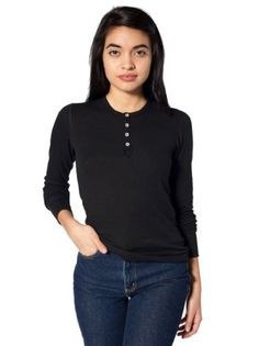 Shop American Apparel - Find fashionable basics for men, women, children, and babies. Thermal Long Sleeve, Long Sleeve Henley, Long Sleeve Shirts, Henleys, Jim Morrison, Henley Shirts, Unisex Baby, American Apparel, My Style